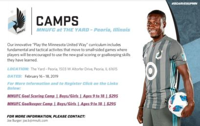 MNUFC at The Yard – Soccer Camps